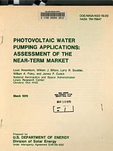 Photovoltaic Water Pumping Applications  Assessment of the Near term Market