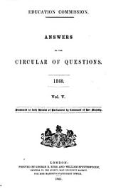 Parliamentary Papers, House of Commons and Command: Volume 21, Part 5