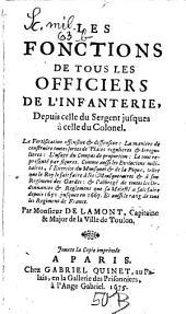 Les fonctions de tous les officiers de l'infanterie