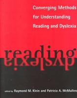 Converging Methods for Understanding Reading and Dyslexia PDF
