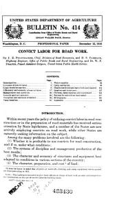 Bulletin of the U.S. Department of Agriculture: Issues 414-425