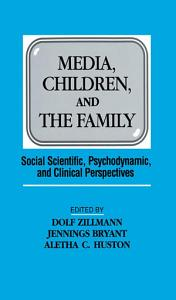 Media  Children  and the Family Book