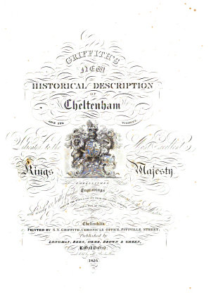 Griffith s New Historical Description of Cheltenham and Its Vicinity
