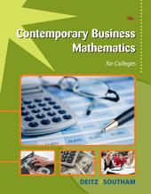 Contemporary Business Mathematics for Colleges: Edition 16