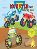 Monster Truck Coloring Book For Kids Ages 3-5