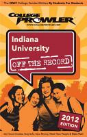 Indiana University 2012 PDF