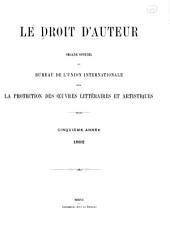 Le Droit d'auteur: Volume5
