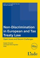 Non Discrimination in European and Tax Treaty Law PDF