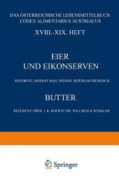 Eier und Eikonserven: XVIII.–XIX. Heft