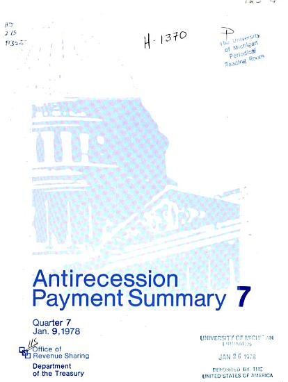 Antirecession Payment Summary PDF