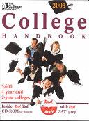 The College Board College Handbook 2003 PDF