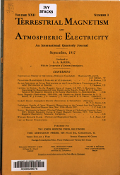 Terrestrial Magnetism and Atmospheric Electricity: Volume 22, Issue 3