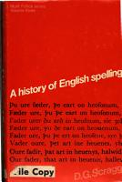 A History of English Spelling PDF