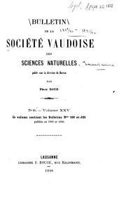 Bulletin de la Société vaudoise des sciences naturelles ...: Volumes25à27