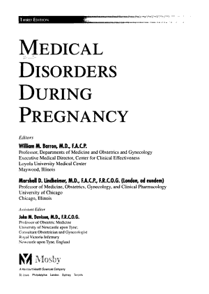 Medical Disorders During Pregnancy PDF