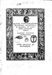 Maximi Tyrii ... Sermones e Graeca in Latinam linguam versi Cosmo Paccio interprete