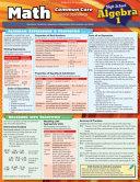 Math Common Core Algebra 1 9th Grade Book