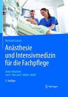 An  sthesie und Intensivmedizin f  r die Fachpflege PDF