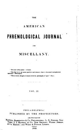The American Phrenological Journal and Miscellany PDF