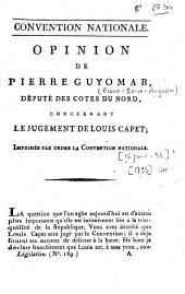 Opinion de Pierre Guyomar, député des Cotes du Nord, concernant le jugement de Louis Capet