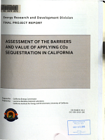 Assessment of the Barriers and Value of Applying CO2 Sequestration in California PDF