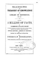 The Treasury of Knowledge and Library of Reference  A million of facts  The book of facts  by Samuel L  Knapp  William C  Redfield  and others PDF