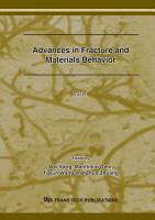 Advances in Fracture and Materials Behavior PDF