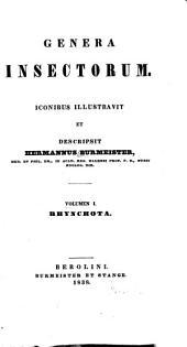 Genera insectorum: Volume 1