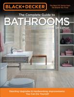 Black   Decker Complete Guide to Bathrooms 5th Edition PDF