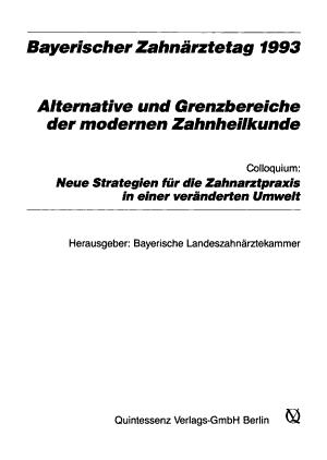 Bayerischer Zahn  rztetag PDF