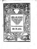 Wie alle Closter     in ain christlich Wesen m  chten     gebracht werden PDF