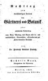 Gartnerei und Botanik: Band 6
