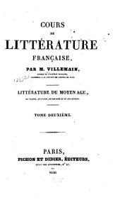 Cours de littérature française: Volume2
