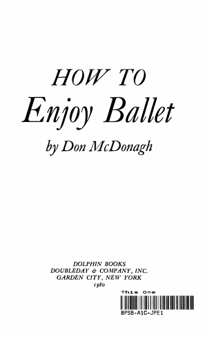 How to Enjoy Ballet