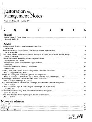 Restoration & Management Notes