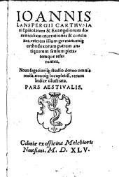 Epistolarum ac evangeliorum domin. enarrationes: Pars hyem. et aestiv, Volume 2