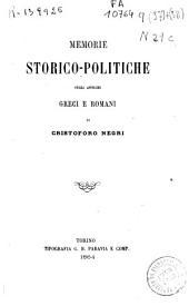 Memorie storico-politiche sugli antichi Greci e Romani