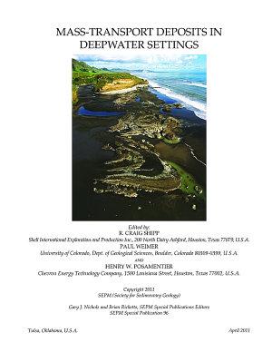 Mass transport Deposits in Deepwater Settings