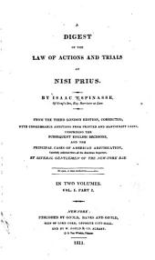 A digest of the law of actions and trials at nisi prius: Volume 1, Part 1
