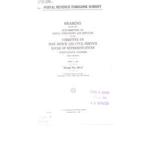 Postal Revenue Foregone Subsidy