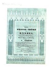 Sechs große Chöre: Halleluja : aus Händel's Messias, Volume 3