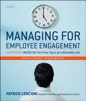 Managing for Employee Engagement Participant Workbook PDF