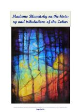 Madame Blavatsky on the history and tribulations of the Zohar