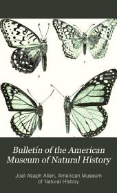 Bulletin of the American Museum of Natural History: Volume 5