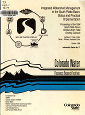 Integrated Watershed Management in the South Platte Basin PDF