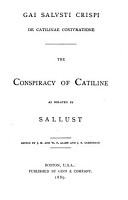 The Conspiracy of Catiline as Related by Sallust PDF