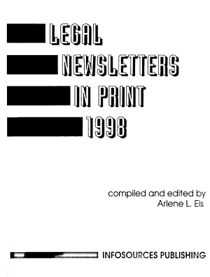 Legal Newsletters in Print PDF