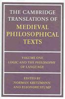 The Cambridge Translations of Medieval Philosophical Texts  Volume 1  Logic and the Philosophy of Language PDF