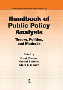 Handbook of Public Policy Analysis PDF