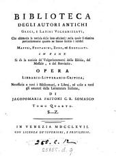Biblioteca degli autori antichi greci, e latini volgarizzati 5 tom
